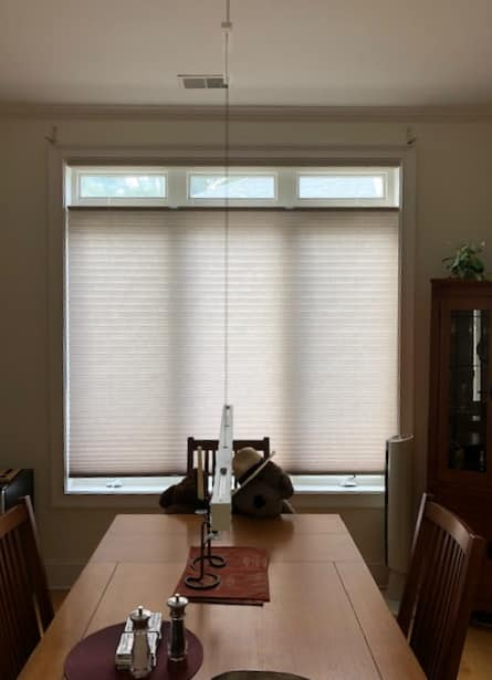 Honeycomb Shades Installed on White Bluff Road